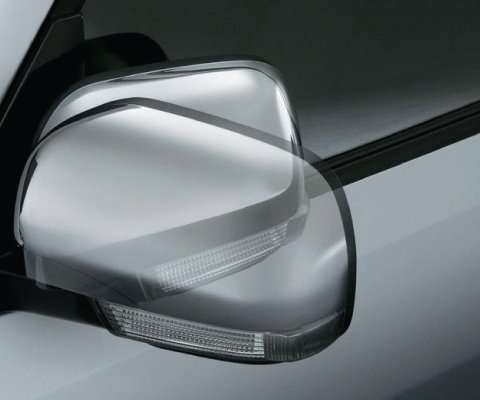 Power Door Mirror with Chrome Finish